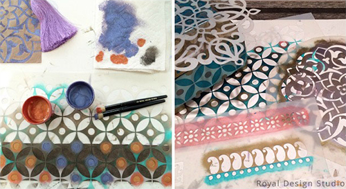 Indian and Moroccan Stencil Patterns from Royal Design Studio
