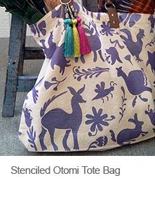 DIY Otomi Stenciled Tote Bag