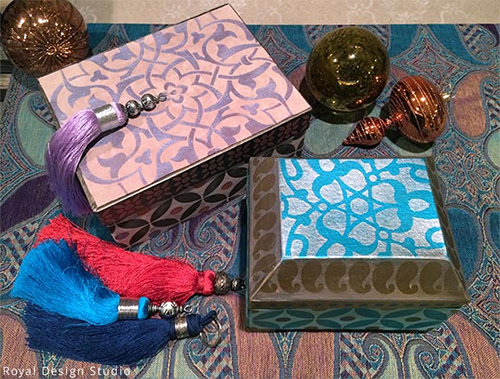 Moroccan Stenciled Gift Boxes