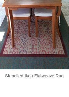 Stenciled Ikea Rug