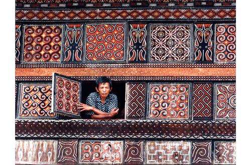 Toraja Patterned House via Indonesia Traveler