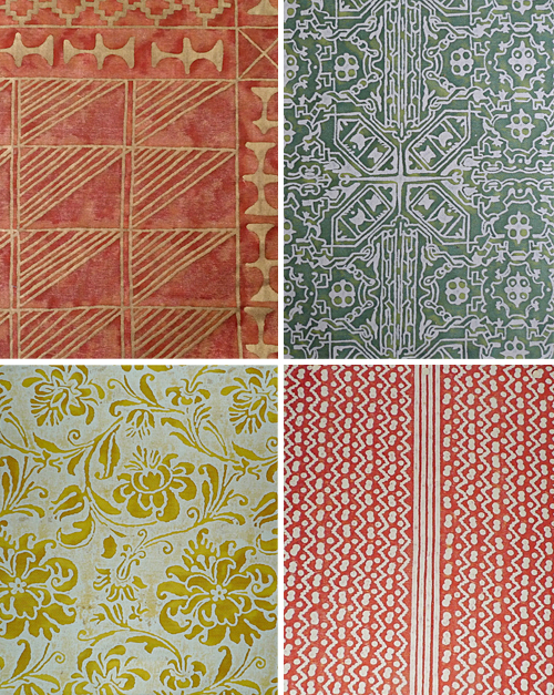 Fortuny Fabric Patterns Remnants from Caravan of Textiles eBay Store