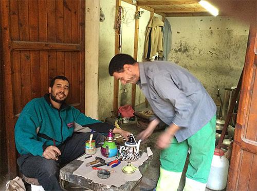 MoroCrafts Artisans Creating Teapots