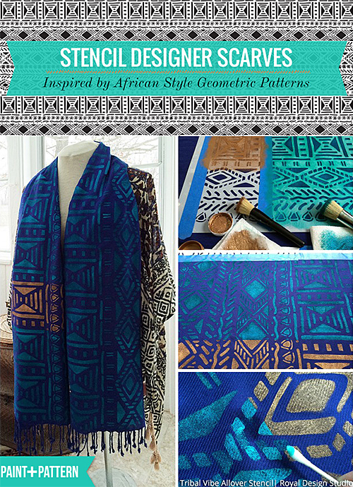 How to Stencil a Scarf