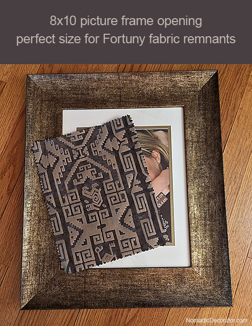 Framing Fortuny Fabric Remnants