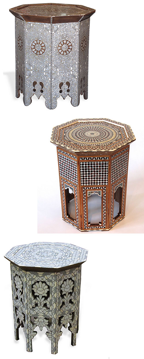 Mother of Pearl Inlaid Tables from Akbik