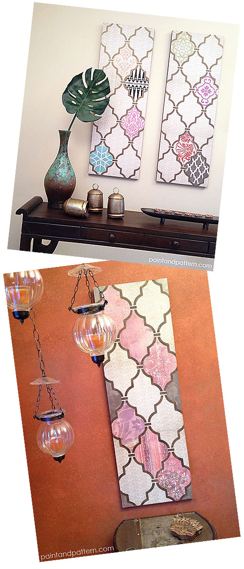 Exotic Stenciled Wall Art