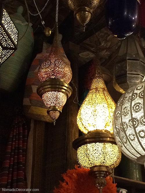 Pierced Metal Moroccan Lanterns at Mustapha Blaoui Shop