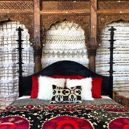 Handira Bed Styling at Tierra del Lagarto
