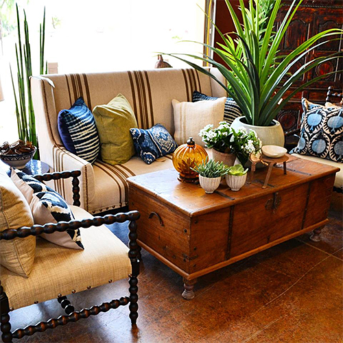Living Room Scene at Tierra del Lagarto