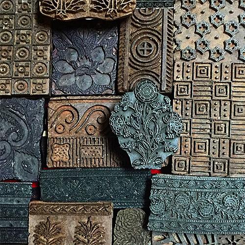 Wood Indian Printing Blocks from Tierra del Lagarto