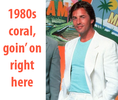 1980s Coral