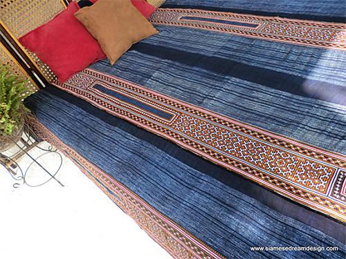 Hmong Indigo Batik via SiameseDreamDesign