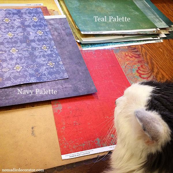 Blue Scrapbook Paper Color Palettes