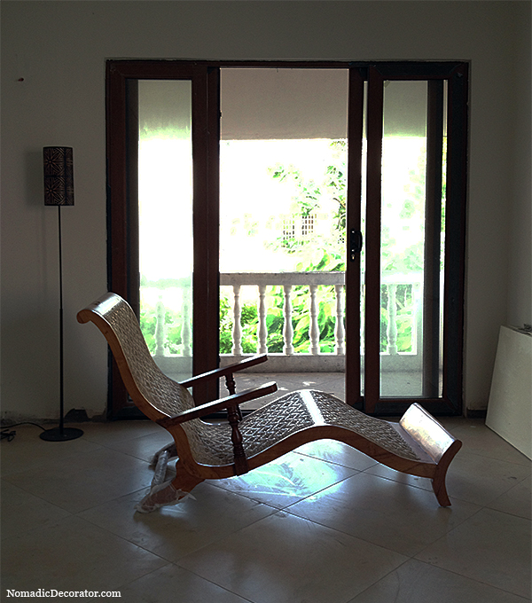 Teak Indian Lounge Chair