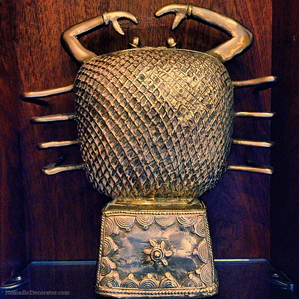 Indian Brass Crab Figurine