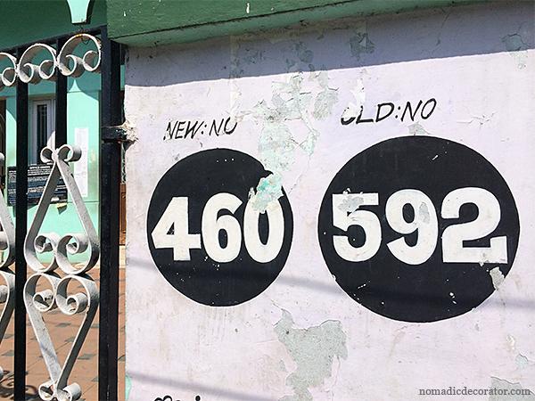 Chennai India Street Numbers