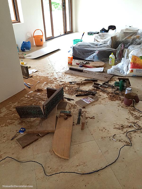 Messy Dangerous Work Space