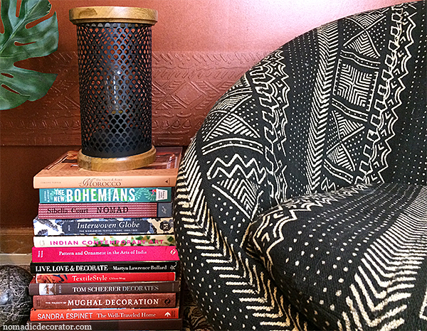 Mud Cloth Upholstered Chair