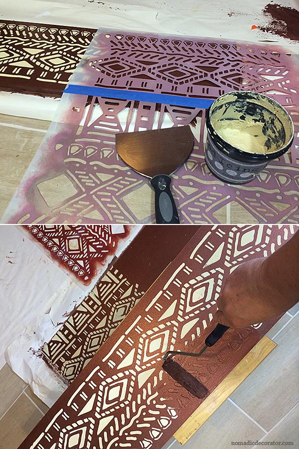 Wood Icing Raised Pattern