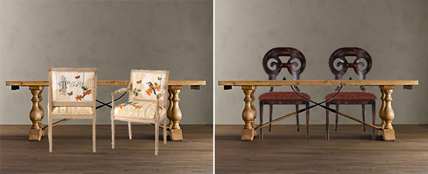 Chairs with Farmhouse Tables