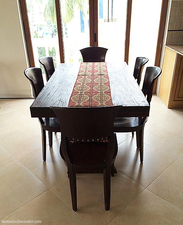 Teak Farmhouse Table