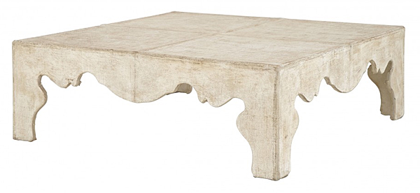 Burlap Covered Coffee Table