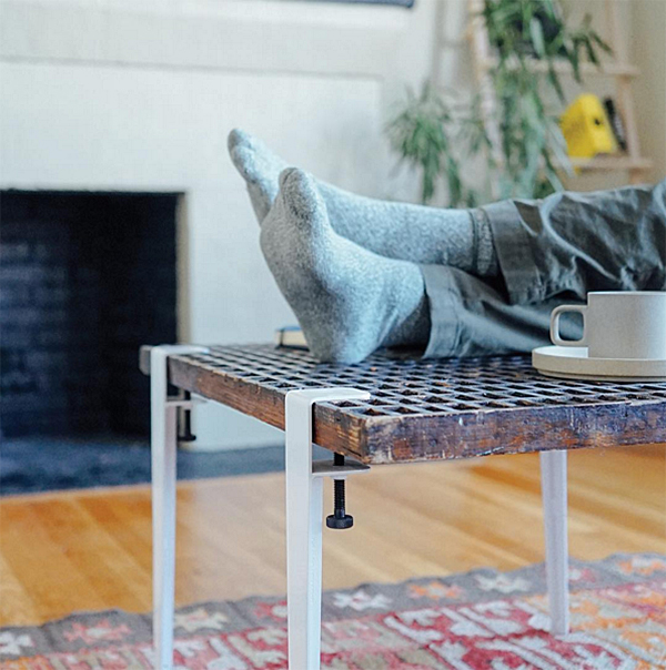 Floyd Detroit Vice Grip Leg Table