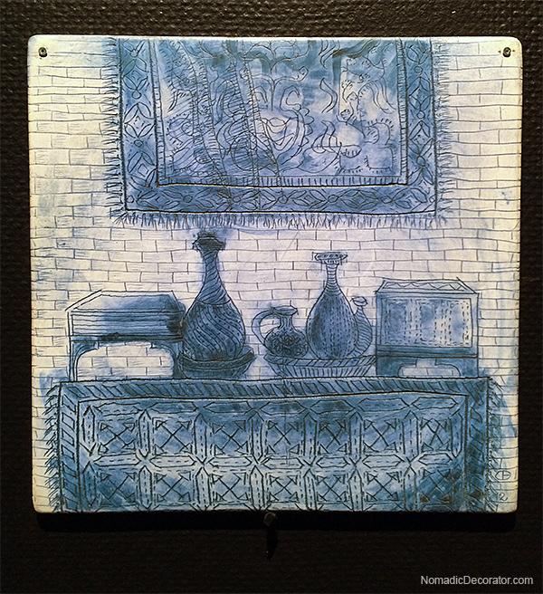Cristina Bolborea Tile at Lisbon National Tile Museum