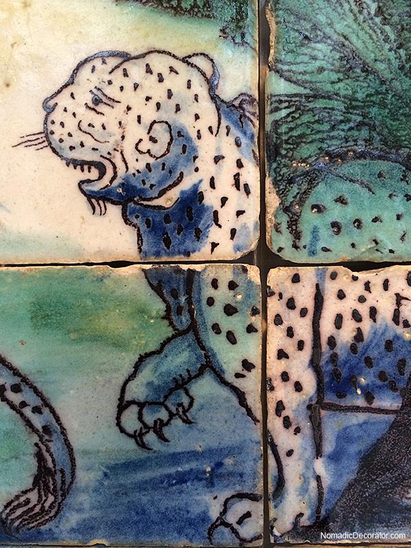 Portuguese Tile Mural The Leopard Hunt