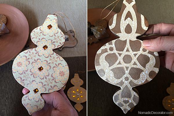 Scrapbook Paper Ornament
