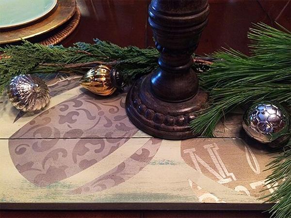 Shabby Shutter Holiday Centerpiece