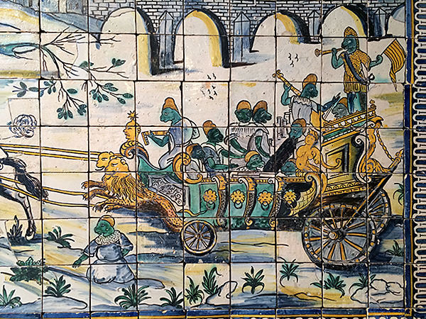 The Chicken Wedding Mural at National Tile Museum Lisbon