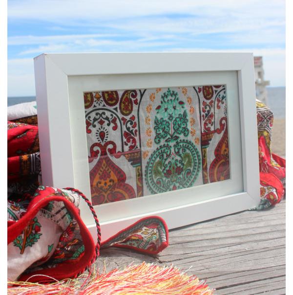 Framed Saree Fabric