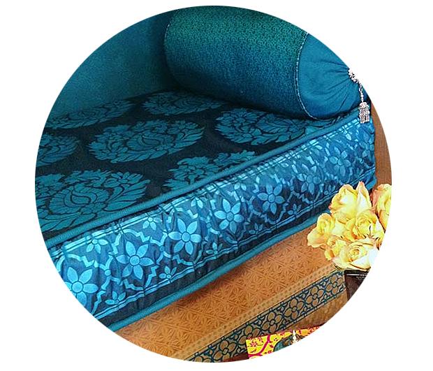 Stenciled Seat Cushion Fabric