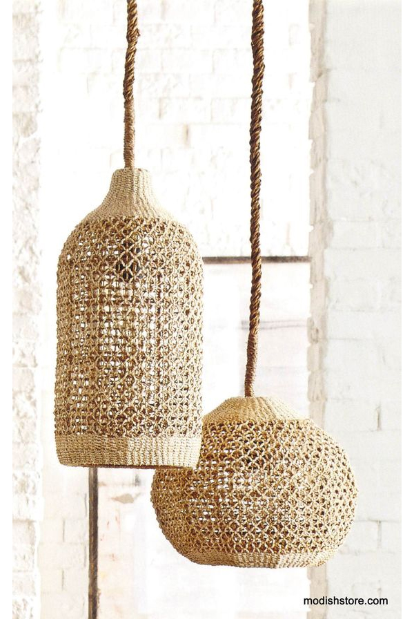 Woven Abaca Lights from Modish Store