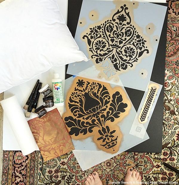 Royal Design Studio Damask Stencils