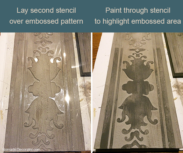 Painting Embossed Area