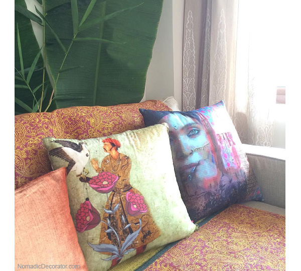 Sofa pillows in India pied-a-terre