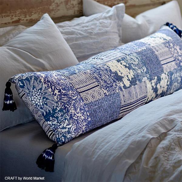 CRAFT by World Market Patchwork Pillow