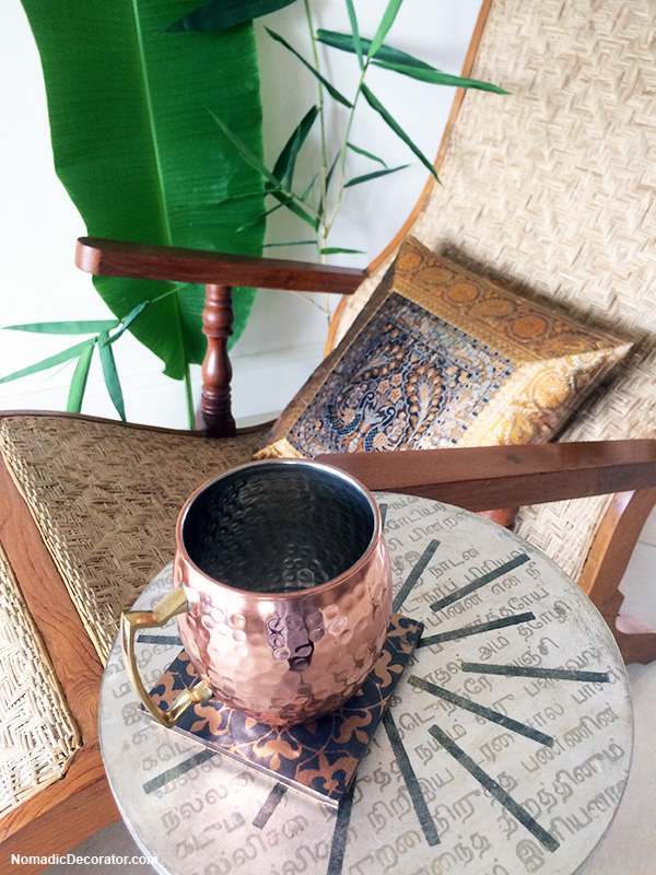 Candlestick Table to Hold Drinks