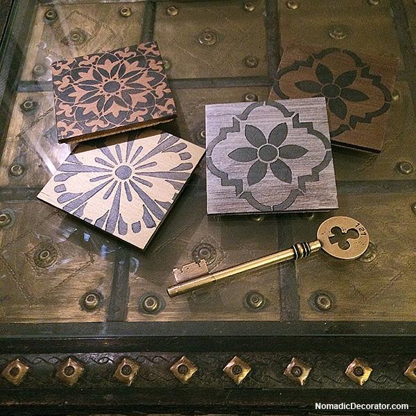 DIY Stenciled Coasters