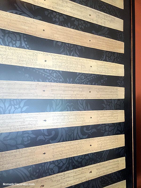 Palm Leaf Manuscript Mounted and Framed