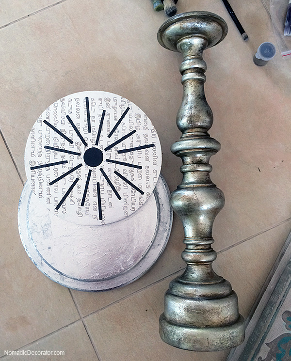 Silver Leaf Rounds and Candlestick