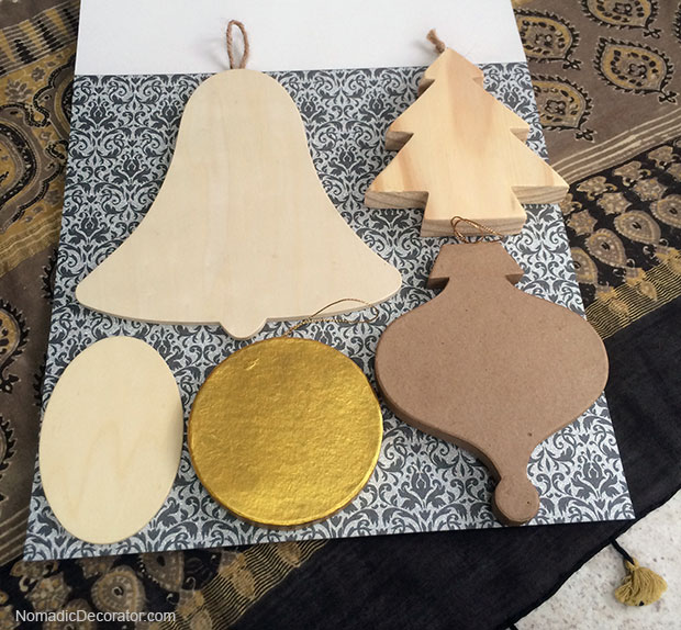 One Scrapbook Paper Many Christmas Tree Ornaments