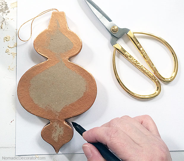 Tracing Ornament on Paper