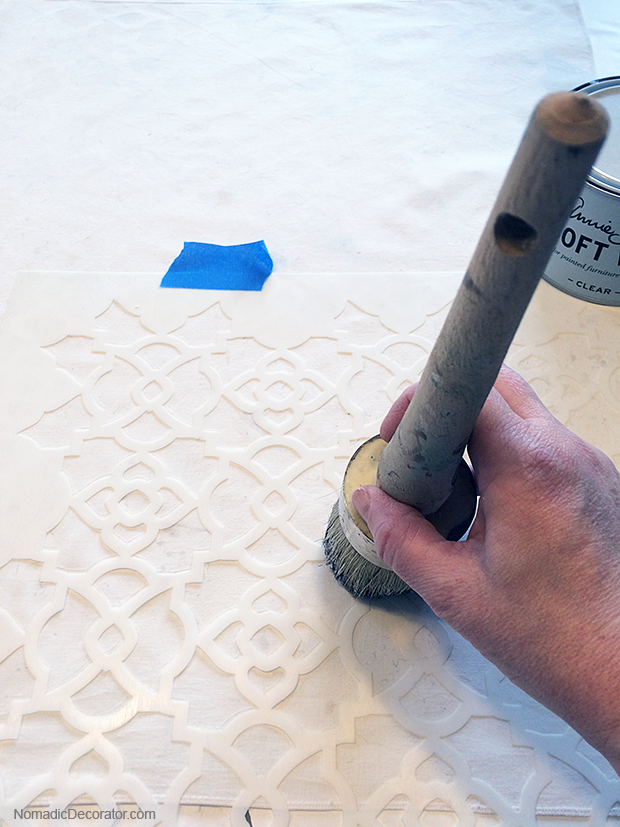 Stenciling with Annie Sloan Clear Soft Wax