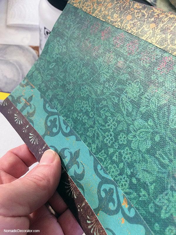 Paper Collage with Golden Matte Medium