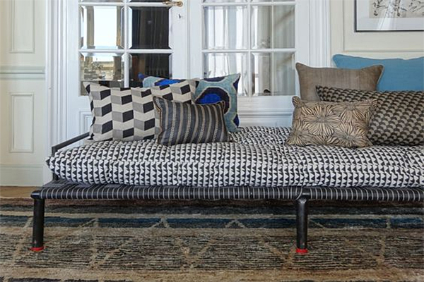 Charpoy Cushions and Pillows shown at HELLO Blogzine