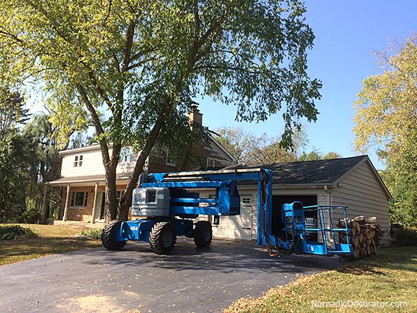 Boom Lift for Exterior Paint Job